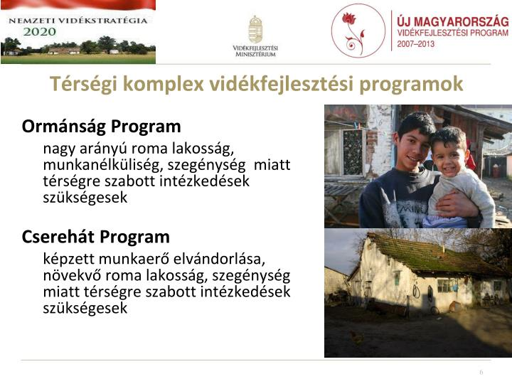 Térségi komplex vidékfejlesztési programok