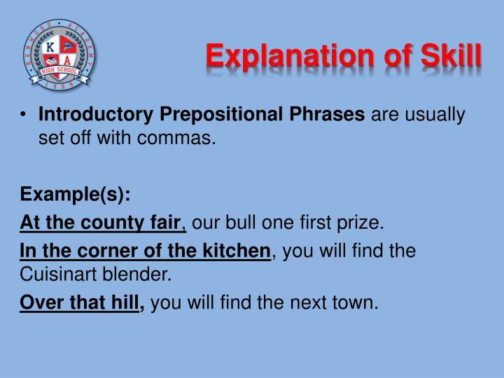 Explanation of Skill