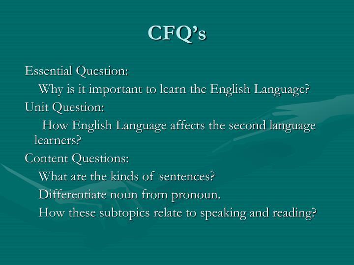 CFQ's