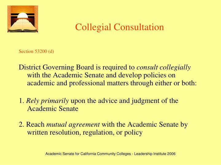 Collegial Consultation