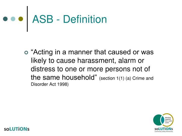 ASB - Definition
