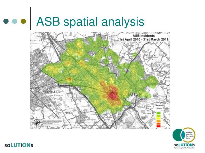 ASB spatial analysis