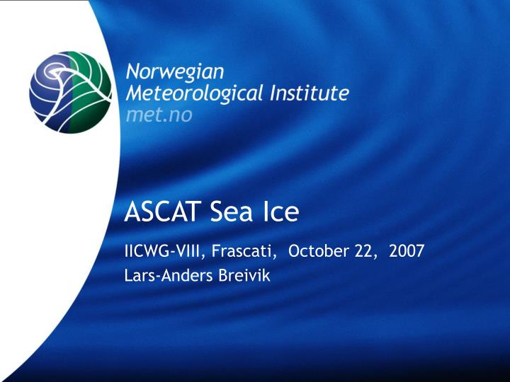 ASCAT Sea Ice