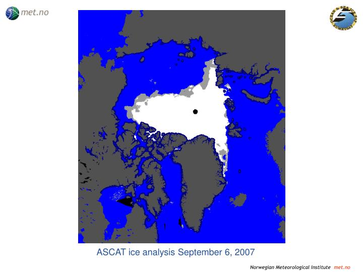 ASCAT ice analysis September 6, 2007
