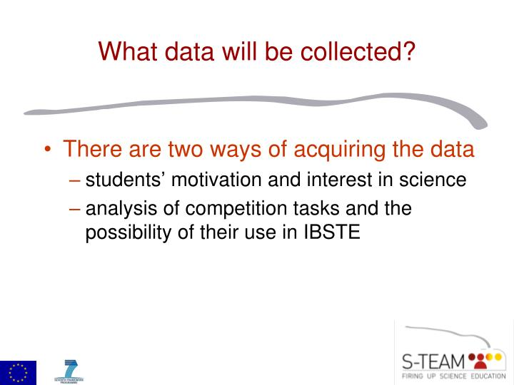 There are two ways of acquiring the data