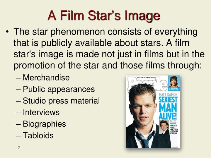 A Film Star's Image