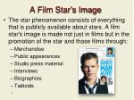 a film star s image