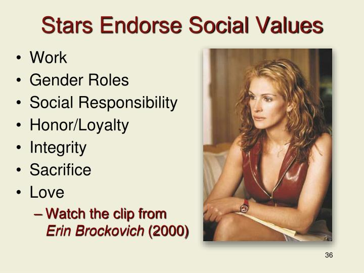 Stars Endorse Social Values