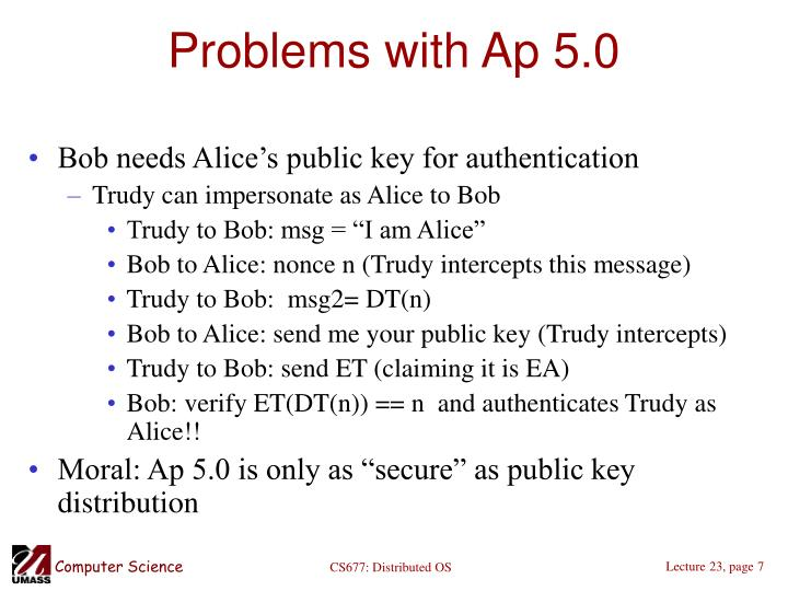 Problems with Ap 5.0