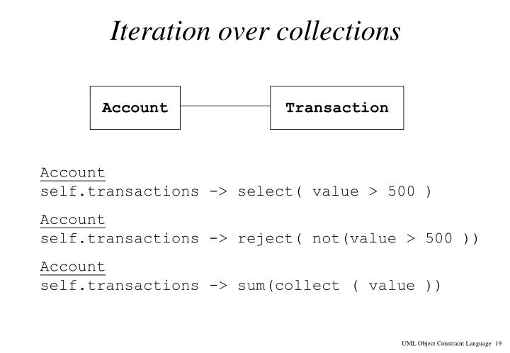 Iteration over collections