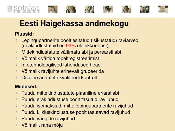 Eesti Haigekassa andmekogu