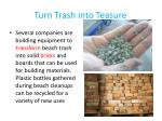 turn trash into teasure