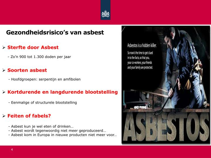 Gezondheidsrisico's van asbest