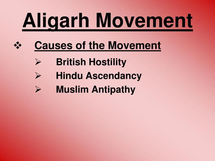 aligarh movement essay