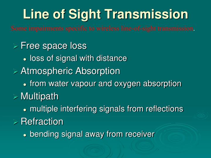 Line of Sight Transmission