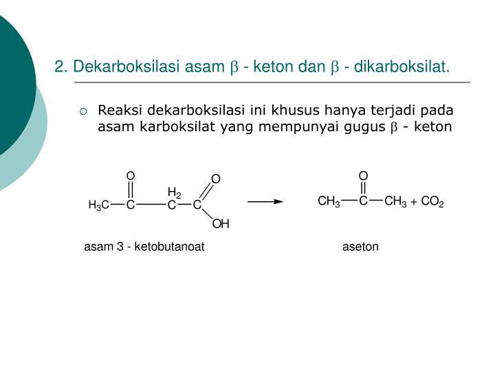 2. Dekarboksilasi asam
