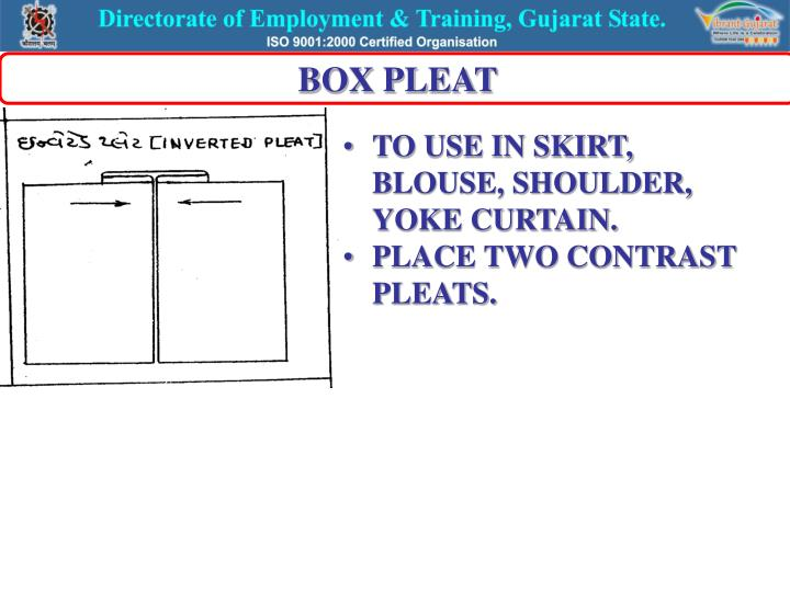 BOX PLEAT