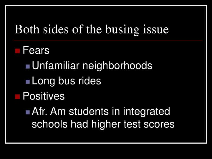 Both sides of the busing issue
