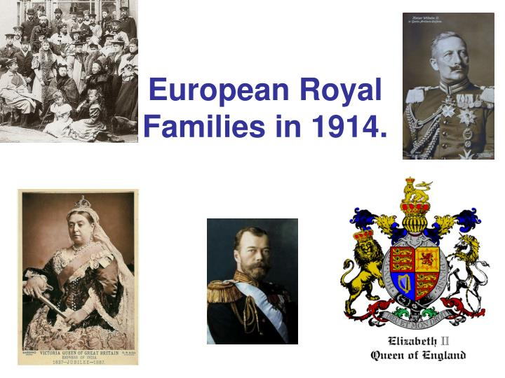 European royal families in 1914