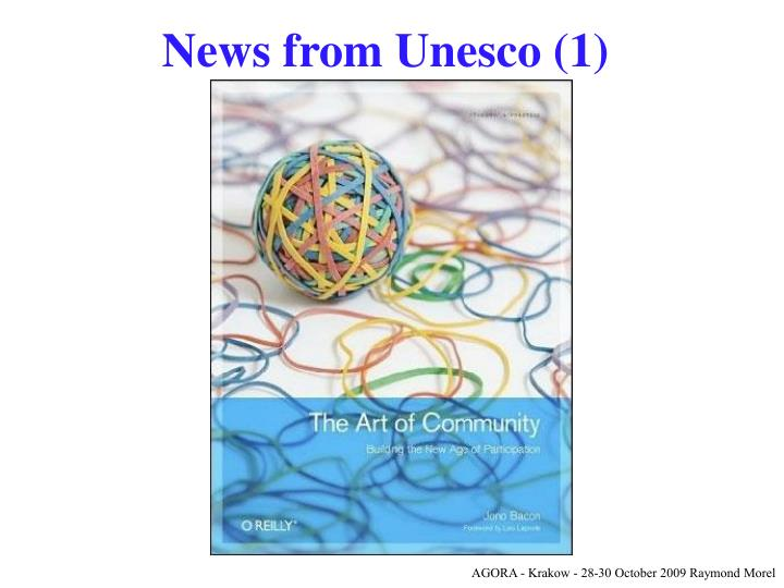 News from Unesco (1)