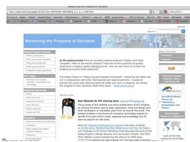 (R)Evolution et Tendances              MEMO de synthèse N° 67 (octobre 2007) SEM-PE