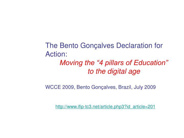 The Bento Gonçalves Declaration for Action: