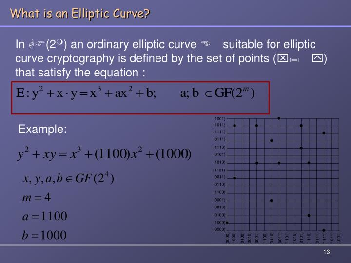 What is an Elliptic Curve?