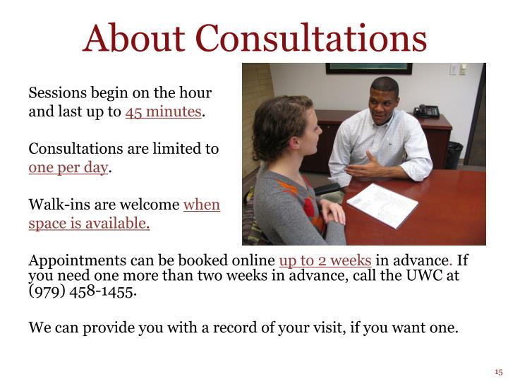 About Consultations