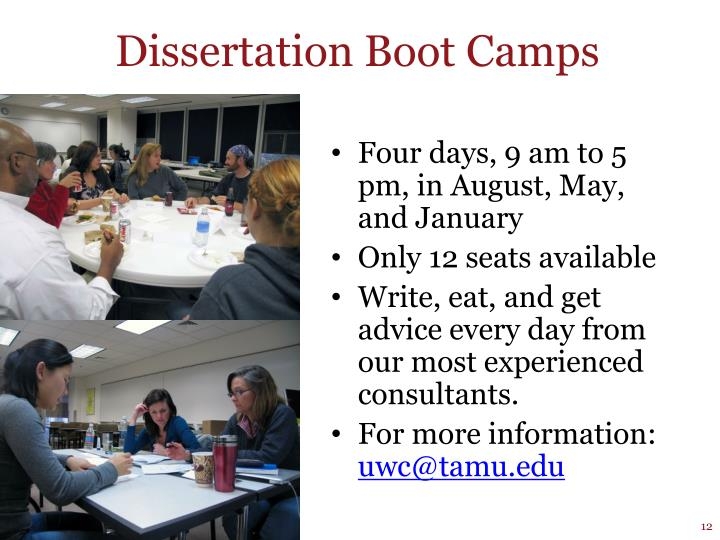 Dissertation Boot Camps