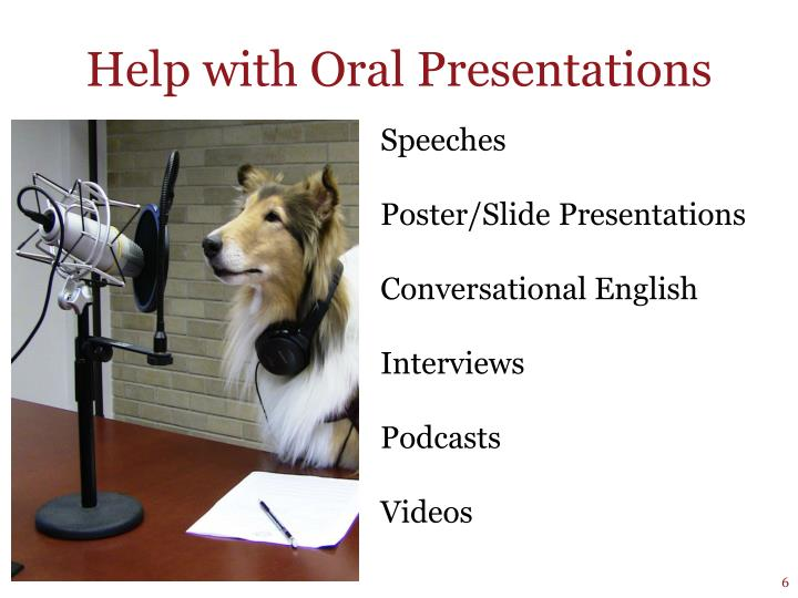 Help with Oral Presentations