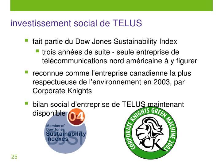 investissement social de TELUS