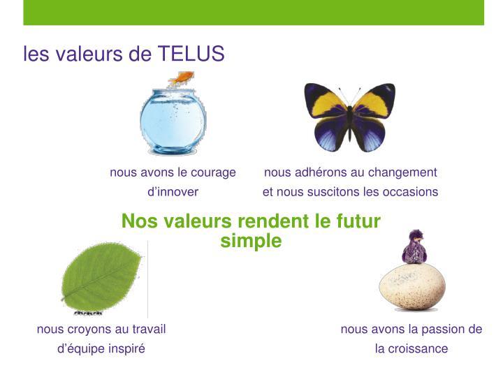 les valeurs de TELUS