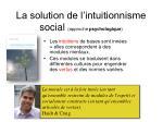 la solution de l intuitionnisme social approche psychologique