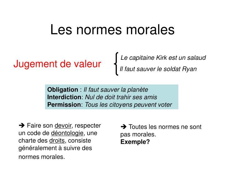 Les normes morales