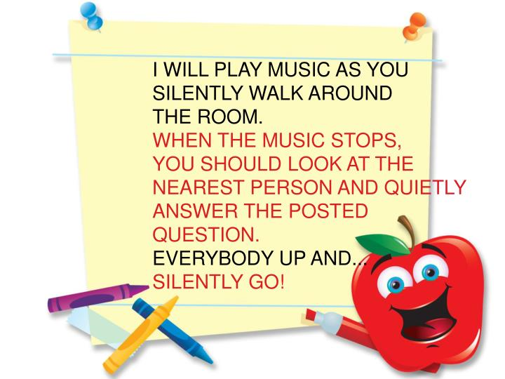I WILL PLAY MUSIC AS YOU