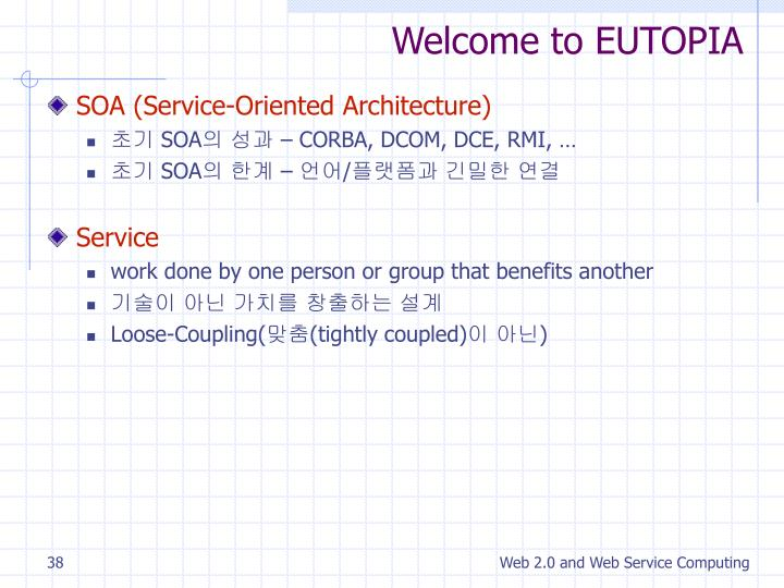 Welcome to EUTOPIA