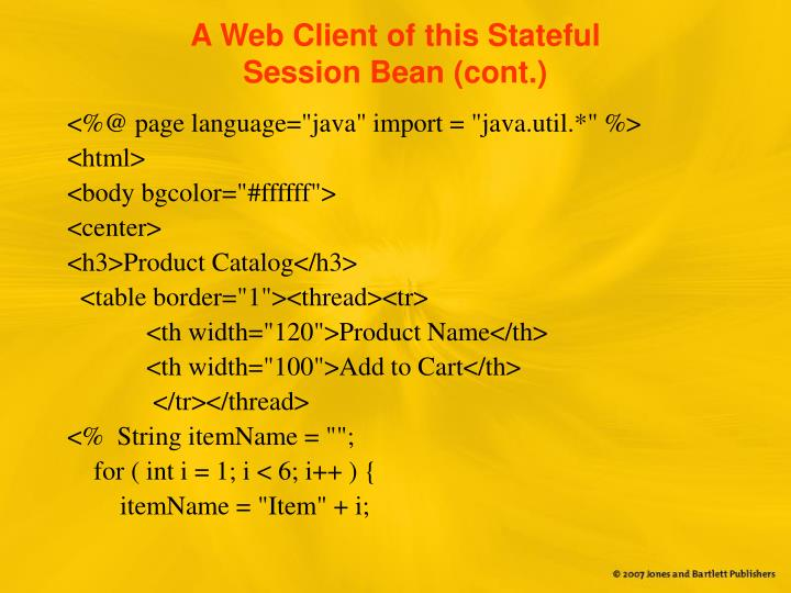 A Web Client of this Stateful