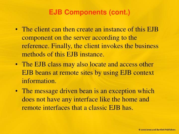 EJB Components (cont.)