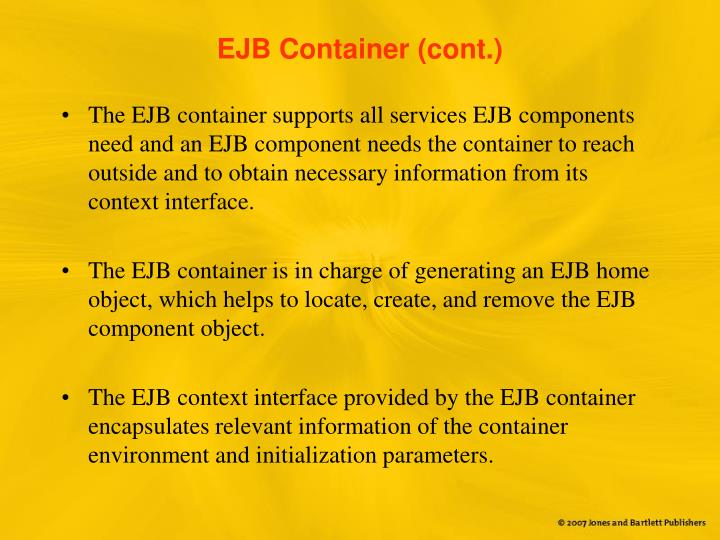 EJB Container (cont.)