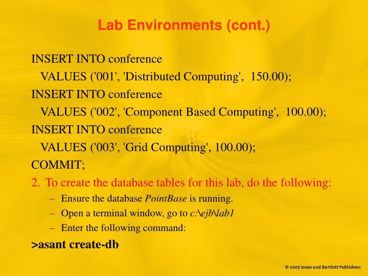 Lab Environments