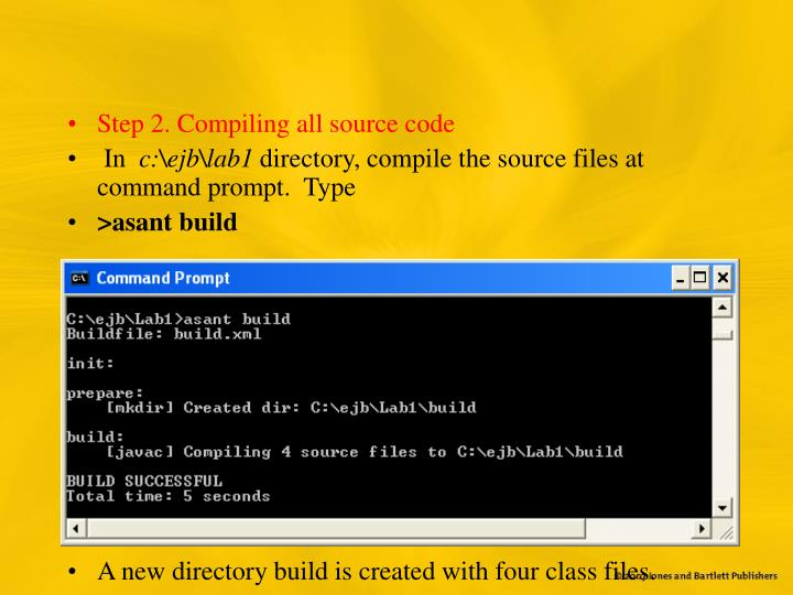 Step 2. Compiling all source code