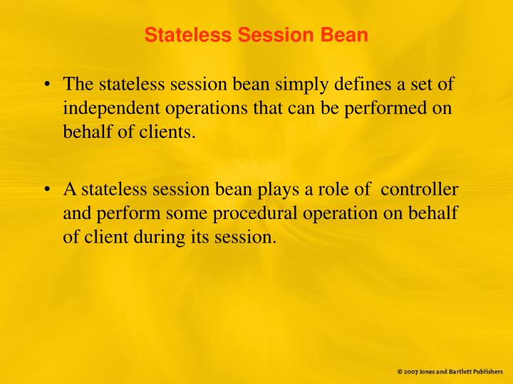 Stateless Session Bean