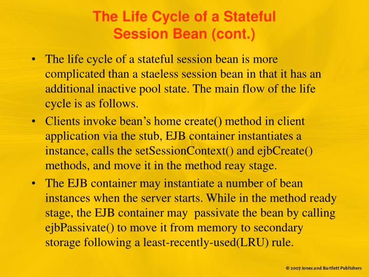 The Life Cycle of a Stateful