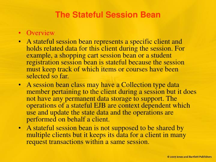 The Stateful Session Bean