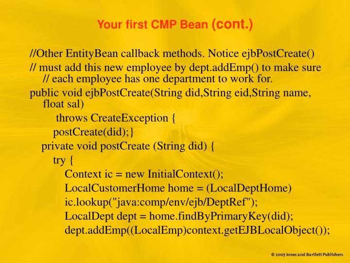 Your first CMP Bean