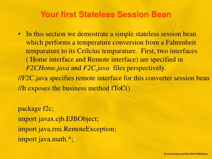 Your first Stateless Session Bean