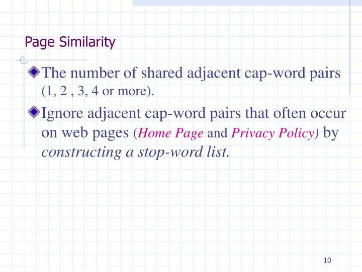 Page Similarity