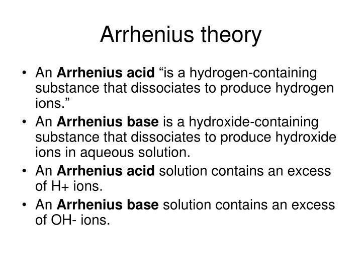 Arrhenius theory