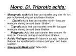 mono di triprotic acids