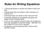 rules for writing equations